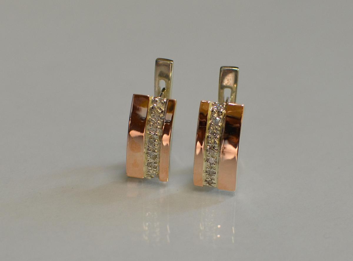 b7182775fea835 ❀ Срібні сережки з золотими пластинами купити, Срібні сережки з ...